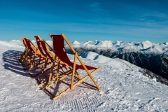 Deckchairs in the Snow